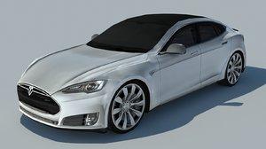 3d model tesla s 2013