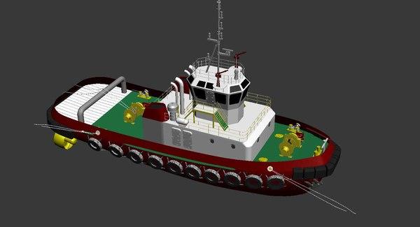 3d tugboat boat