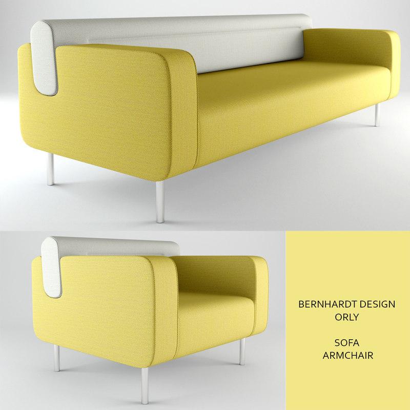 bernhardtdesign sofa orly 3d model