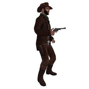 3d rigged cowboy hat 3