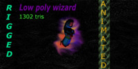 3d wizard animations model