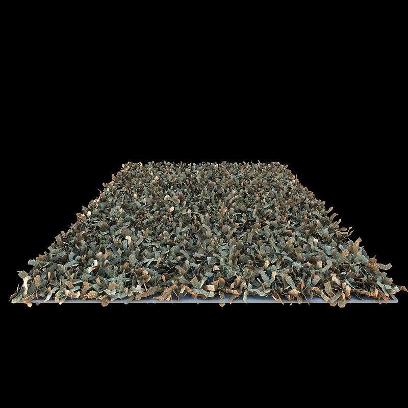 3d beliani shaggy carpet