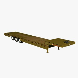 3d trail king lowboy dove model