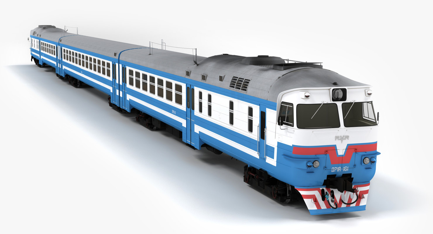 3d model dr1a diesel passenger train