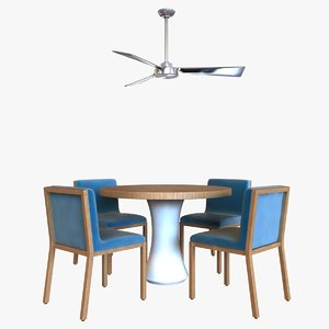 3d table chair fan ceiling