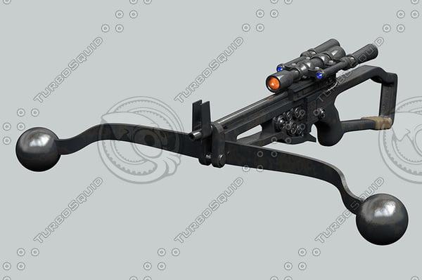 3d wookie bowcaster model