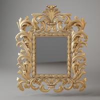 3d model mirror chelini 778