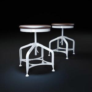 vintage-toledo-dining-stool 3d max