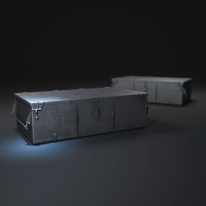 3d voyager-trunk-coffee-table model
