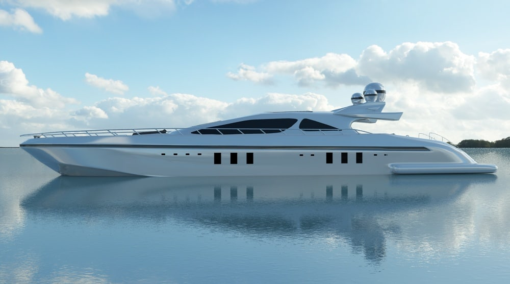3d luxury yacht