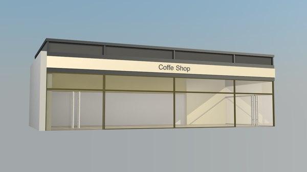 3d shop coffe