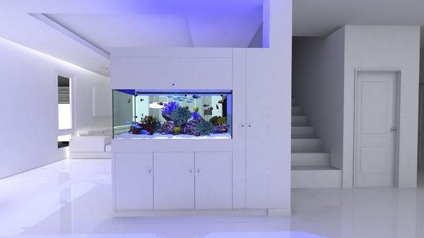 3d fbx reef tank complete
