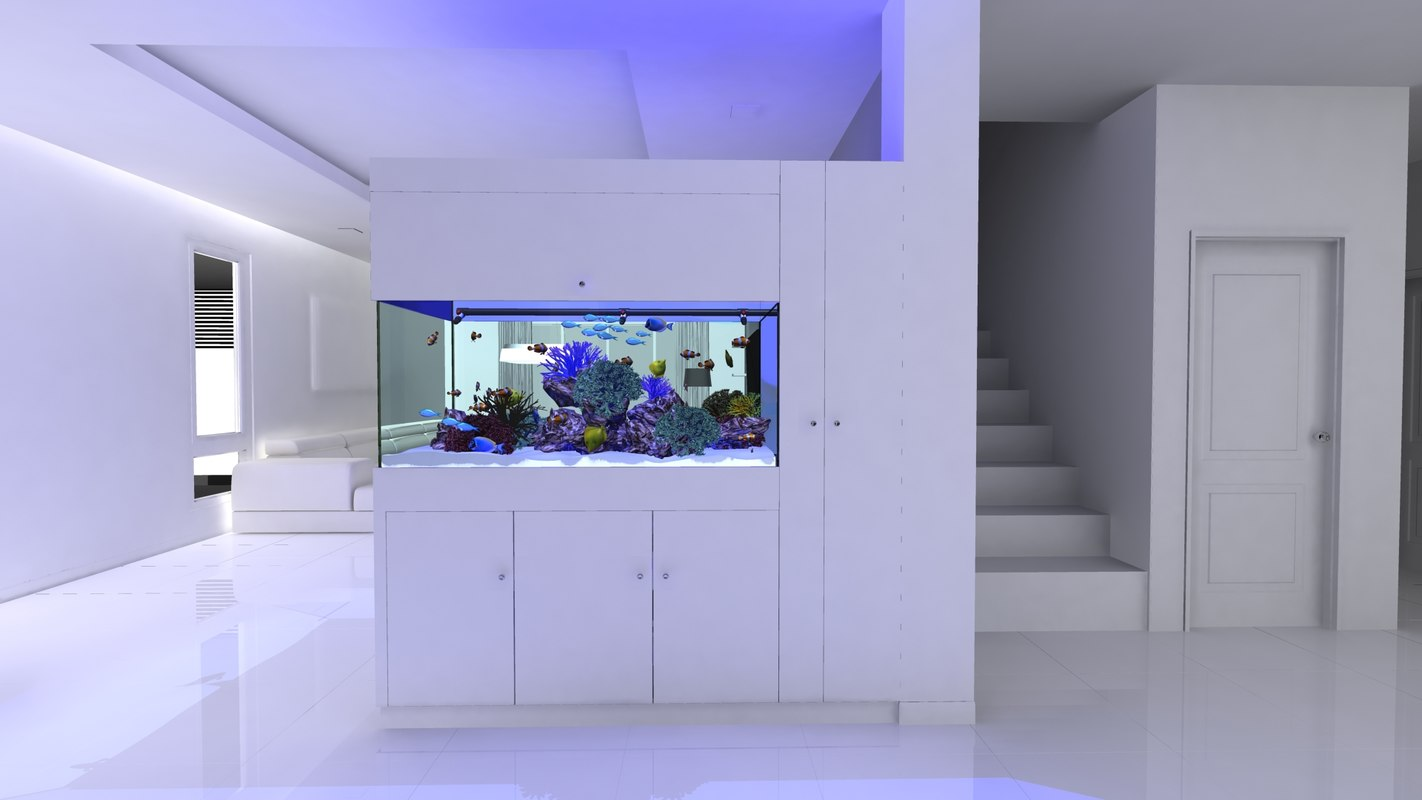 3d fbx reef tank complete