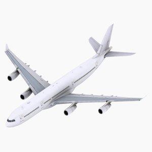 a340-300 simulations aircraft 3d max
