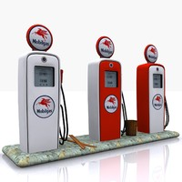 3d gas pump mobilgas model