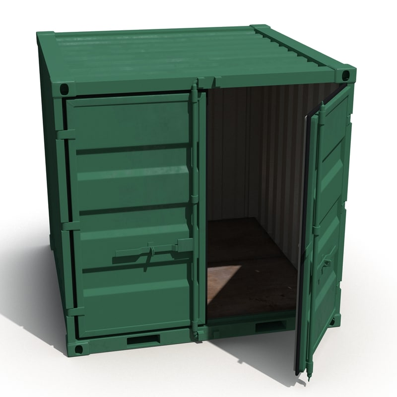 8 ft storage container 3d max