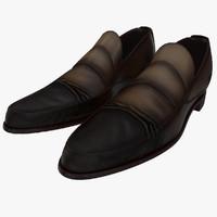 old man shoes 4 3d model