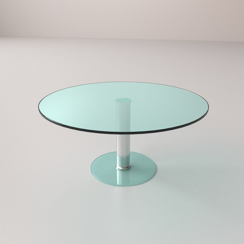 3d model glass circular table