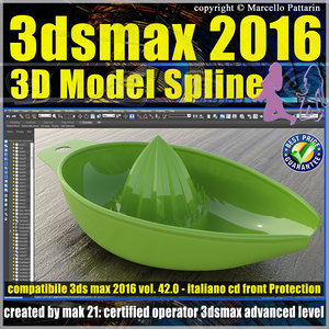 042 3ds max 2016 3D Model Spline v.42 Italiano cd front
