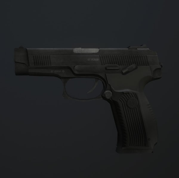 mp-443 grach pistol 3d 3ds