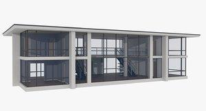 3ds modernist house interior
