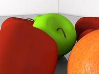 c4d fruits