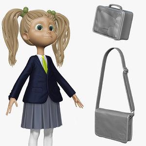 sculpt student cartoon h2o1 3d model