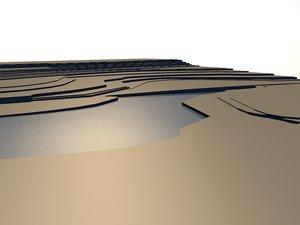 topographical landscape 3d 3ds