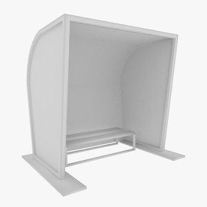 soccer reserves bench 3d model