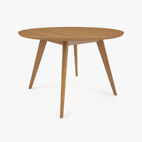 knoll risom dining table 3d max