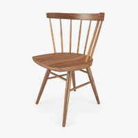 3d knoll straight chair seat model