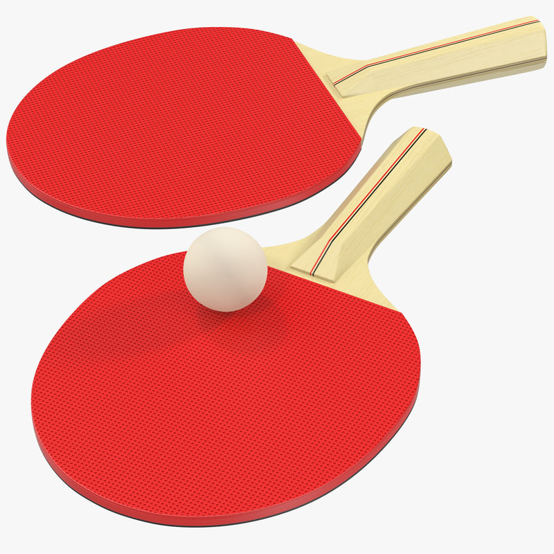 ping pong ball paddle 3d model