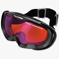 ski goggles 3d model