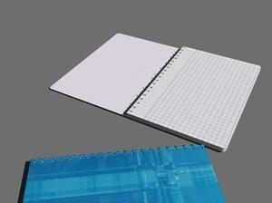 spiral notebook 3d model