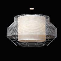 forestier mesh white pendant lamp