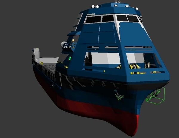 cargo ship stealth 3d model