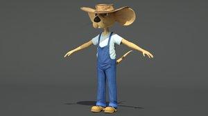 3d farm mouse