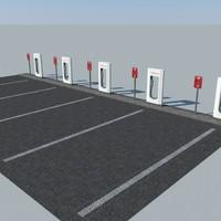 Tesla Supercharger Parking