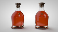 3d model cognac bottle