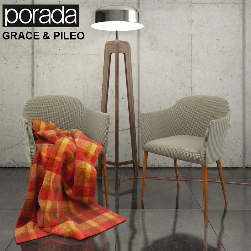 3d porada grace g pileo model