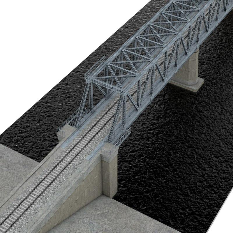 bridge railway c4d