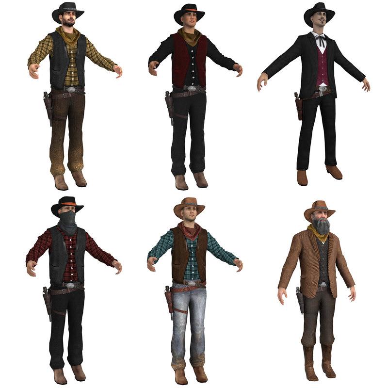 3d cowboy pack
