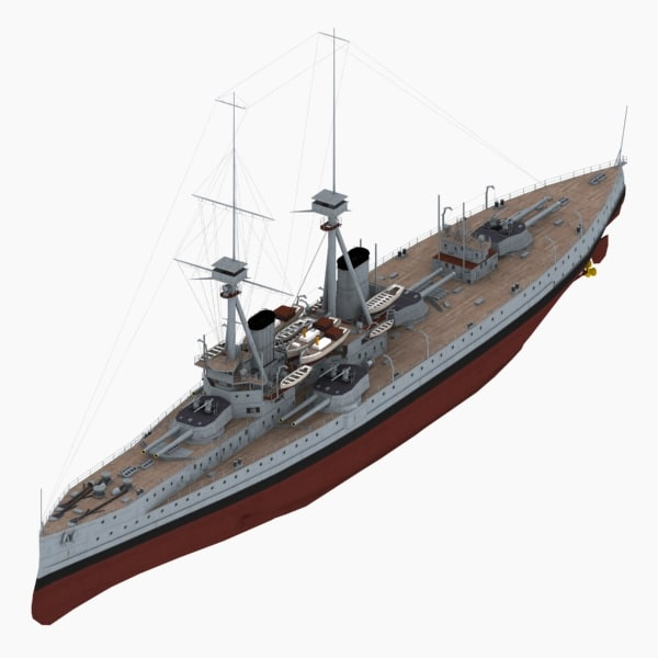 3ds max dreadnought battleship st vincent