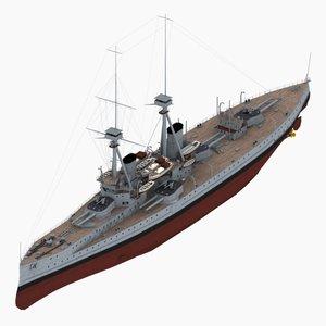 3ds max dreadnought battleship st vincent