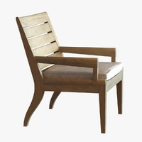 3d chair holly hunt lounge model