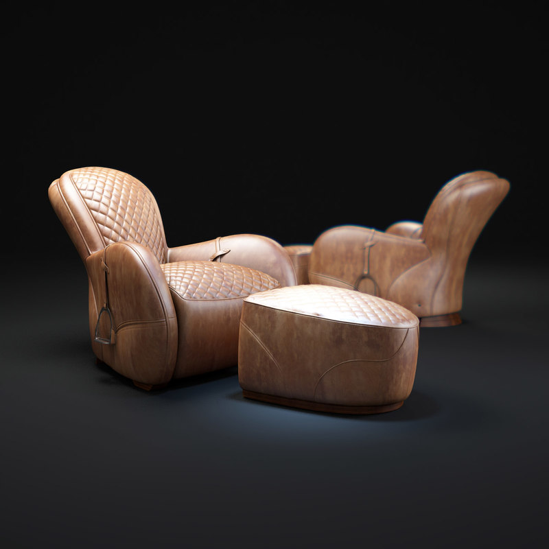 3d equestrian-saddle-chair model