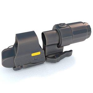 eotech magnifier 3d model
