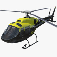3d model police aviation eurocopter 355
