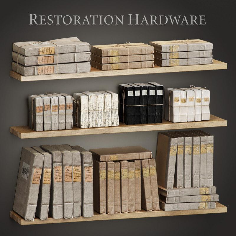 tomes restoration set 3d max