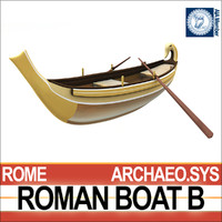3d ancient roman boat b